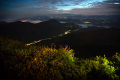Valley at night Royalty Free Stock Image