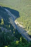 Valley of north cascades national park. Driving in valley of north cascades national park, washington, usa Stock Photo