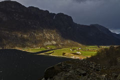 Valley in norway in changeful weather Stock Photography