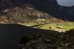 Valley in norway in changeful weather Stock Images