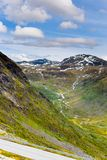 Valley in Norway top view Royalty Free Stock Images