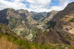 Valley of the Nuns, Curral das Freiras on Madeira Island, Stock Photo