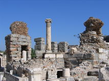 Valley Of Ruins - Ancient Ephesus Stock Photos