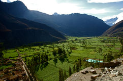 Valley at Ollantaytambo Royalty Free Stock Photos