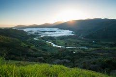Valley of Orosi at sunrise Stock Image
