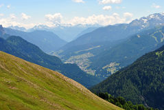 Valley overlooking royalty free stock photography