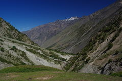 Valley of pakora. Last part of pakora trek, one day walk to finish, karakoram himalaya Royalty Free Stock Photos