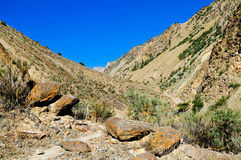 Valley of Pamir Stock Photo