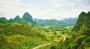 Valley panorama royalty free stock photography