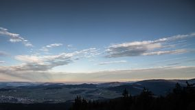 Valley panorama (time-lapse) stock footage