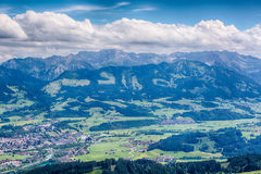 Valley and Peaks in the Alps by Summer Stock Photography