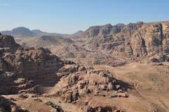 Valley in Petra. Huge valley in Petra, Jordan Royalty Free Stock Image