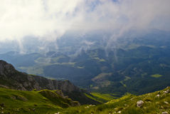 Valley in Piatra Craiului Stock Image
