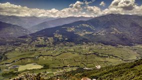 A valley placed in north Montenegro... royalty free stock photos