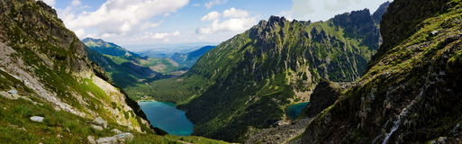 Valley in the Polish Tatra mountains Royalty Free Stock Images