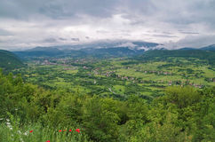 The valley after a rain. Royalty Free Stock Photos