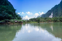 Valley Reservoir and  Homestay beautiful in thailand Stock Images
