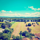 Valley of the Rhone Royalty Free Stock Photo
