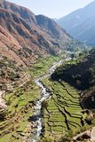 Valley with rice field - Nepal Stock Images