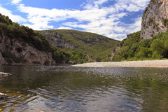 Valley of river Ardeche Stock Photo