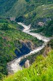 Valley river Baliem at New Guinea. Valley river Baliem at island New Guinea stock photos