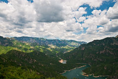 Valley. A river valley in Beijing suburbs Royalty Free Stock Image