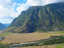Valley of the river Chelushman, mountain Altai Royalty Free Stock Photo