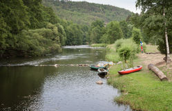 The valley of river Jihlava, Czech Republic in the summer day. The small valley of river Jihlava, Czech Republic in the summer day Stock Photography
