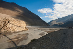 Valley of river Kali Gandaki Royalty Free Stock Image