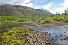 The valley of the river Mikchangda. Royalty Free Stock Photography
