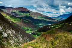 Valley of the river Moraca. Montenegro. royalty free stock image