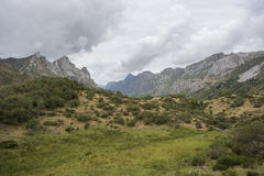 Valley of the River Rio del Valle. In Somiedo Nature Reserve. It is located in the central area of the Cantabrian Mountains in the Principality of Asturias in Royalty Free Stock Images