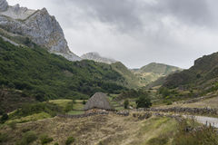 Valley of the River Trabanco. La Peral, in Somiedo Nature Reserve. It is located in the central area of the Cantabrian Mountains in the Principality of Royalty Free Stock Photography