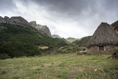 Valley of the River Trabanco. La Peral, in Somiedo Nature Reserve. It is located in the central area of the Cantabrian Mountains in the Principality of Stock Image