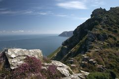 Valley of rocks. Viewpoint over the valley of rocks, exmoor national park, devon royalty free stock images