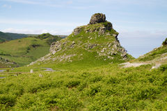 Valley of Rocks near Lynton & Lynmouth Devon Royalty Free Stock Images