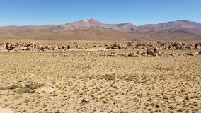 Valley Of The Rocks. Valle De Las Rocas in the Altiplano of Bolivia near Uyuni salt flats. stock video footage