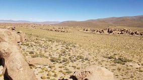 Valley Of The Rocks. Valle De Las Rocas in the Altiplano of Bolivia near Uyuni salt flats.