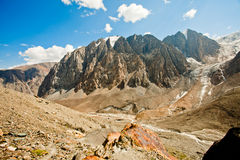 Valley of rocky mountains Royalty Free Stock Images