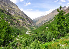 Valley Saastal - Swiss Alps Royalty Free Stock Photos