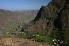 A valley of Sao Antao Royalty Free Stock Photos