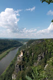 Valley at Saxon switzerland, river Elbe Royalty Free Stock Images