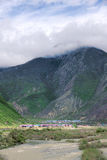 Valley scenery. The landscape of Niyang River in Tibet, China Royalty Free Stock Photography