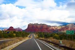 Valley at sedona, united states. Arizona highway, verde valley at sedona, united states stock image