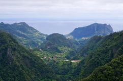 Valley seen from Balcoes, Madeira island, Portugal Royalty Free Stock Photography