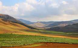 Valley in Shamaxi region of Azerbaijan. Royalty Free Stock Photography