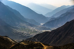 The valley in  shangri-la China. The valley in  shangri-la Diqing,yunan,China Stock Image