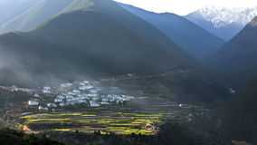 The valley in  shangri-la China. The valley in  shangri-la yunan,china Royalty Free Stock Photos