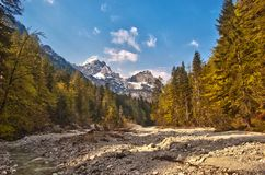 Valley in Slovenian Alps Stock Images