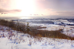 Valley of snow Royalty Free Stock Images